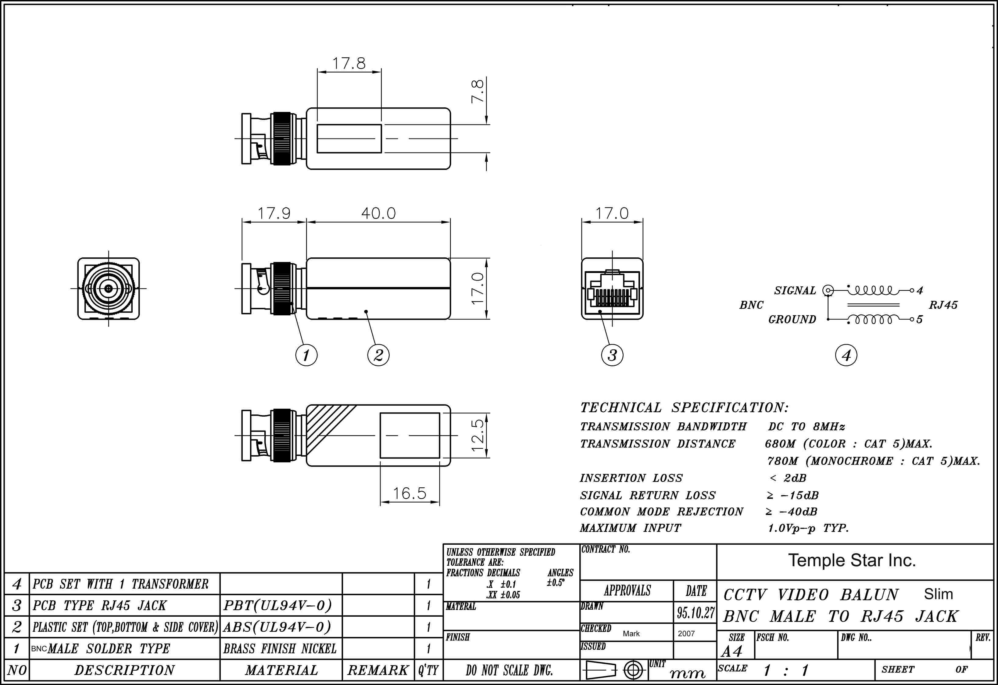 Rj11 To Bnc Wiring Diagram