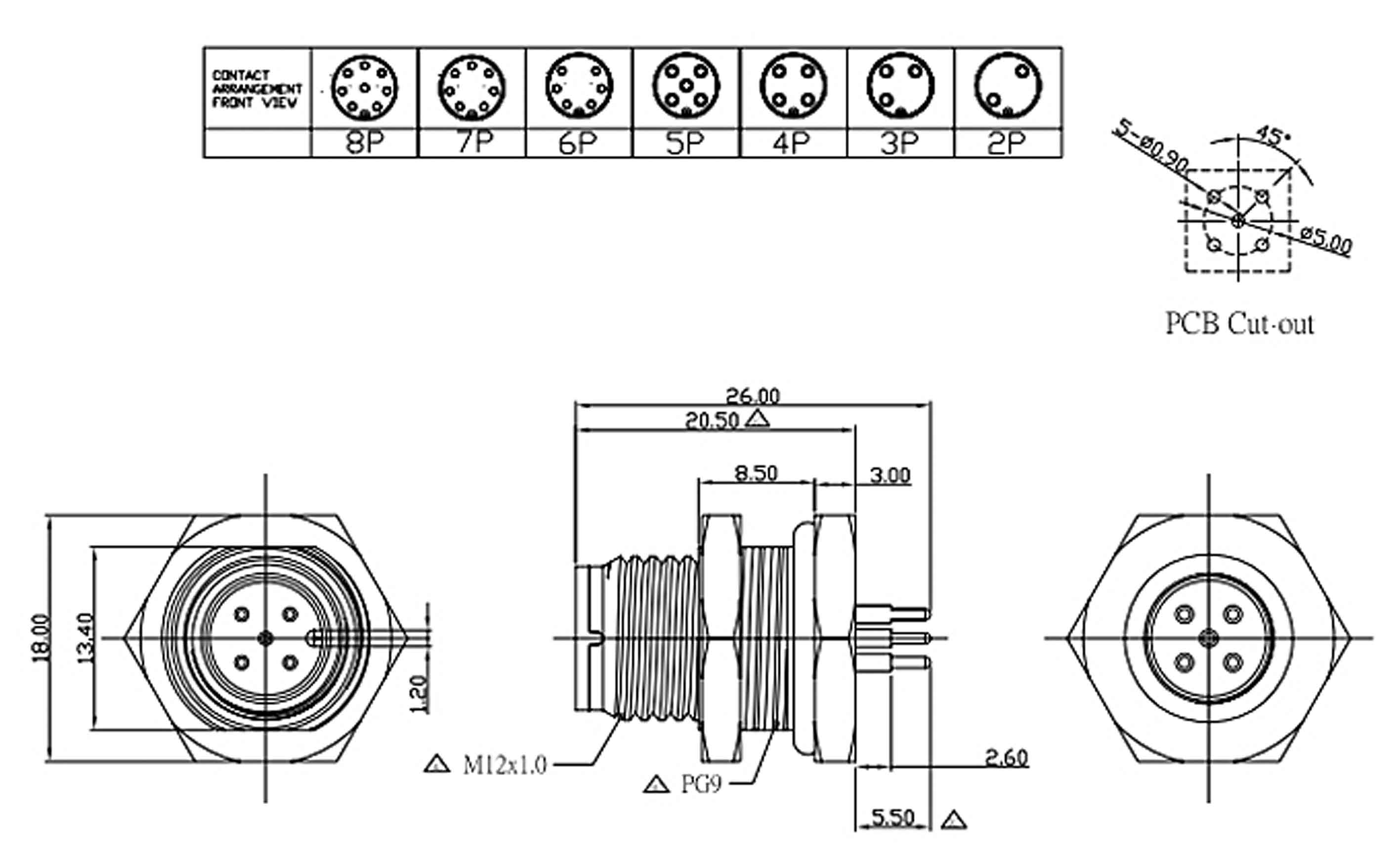 m8 connector 3 pin wiring diagram