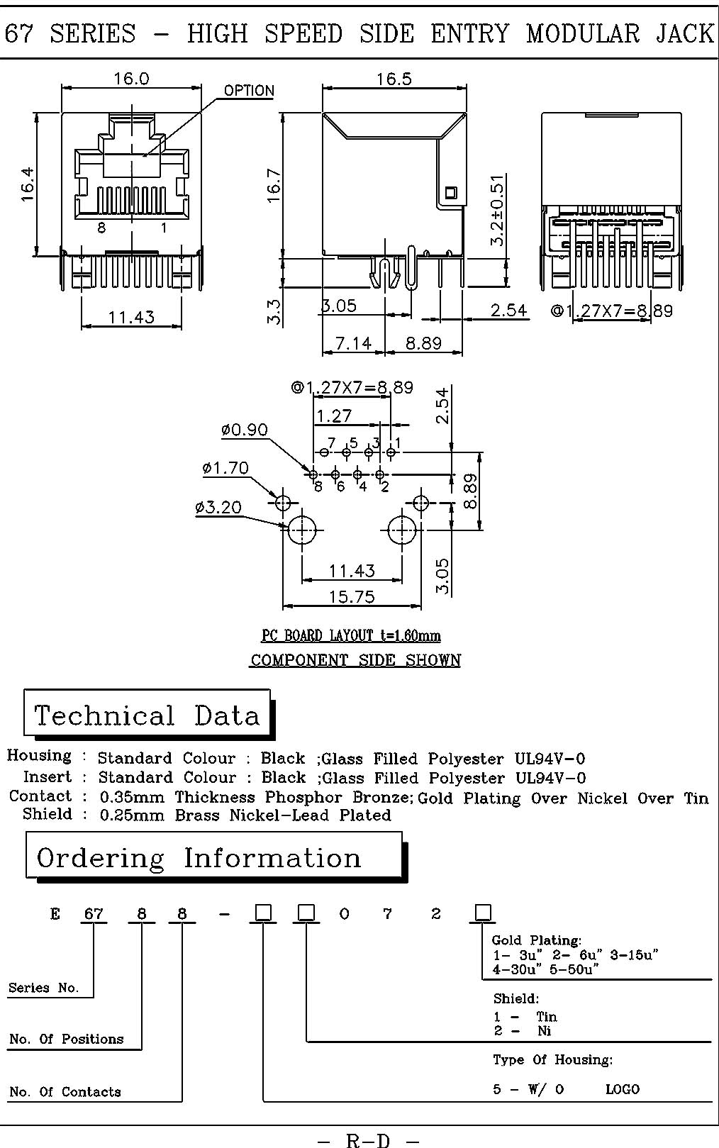 Temple Star Inc Original Manufacturers Direct Price Professional Cat 6 Rj45 Wiring Diagram For The Shield High Speed Cat6 Side Entry Latch Up Dipfully Shieldedbehind Peg 305p127mm Tested On Crosstalk Return Loss Attenuation